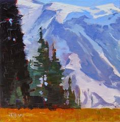 """Daily Paintworks - """"Grand Park Mt Rainier National Park, oil, landscape painting by Robin Weiss in the Randy Higbee 6"""" - Original Fine Art for Sale - © Robin Weiss"""