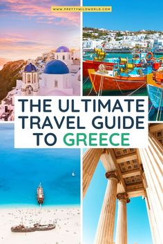 Greece Vacation Ideas - Welcome to Pretty Wild World, a travel ideas website. Read about our top travel guides and let it help you plan your trip! Mykonos, Santorini, Greece Vacation, Greece Trip, Greece Travel, Top Europe Destinations, Travel Tips For Europe, Travel Plan, Travel Ideas