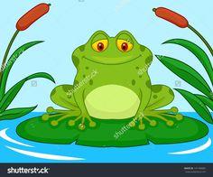 cutespringclipart frog holding a flower clip art