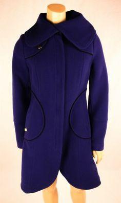 SOIA & KYO Purple Wool Blend Winter Coat Sz 4