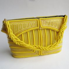 Vintage 40s Sunny Yellow Telephone Cord Novelty by hillbillyfilly