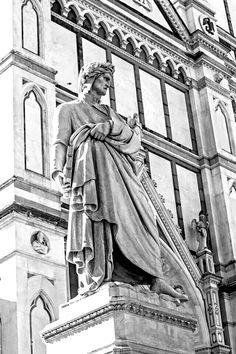 Florence, Italy ~ Statue of Dante Amalfi, Verona, Pisa, Lucca, Voyage Florence, Dante Alighieri, Italian Paintings, Best Of Italy, Paint Photography