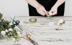 interflora-diy-floral-head-comb-step-5 Gold Wedding, Floral Wedding, Wedding Hair, Bridal Hair, Diy Wedding, Wedding Flowers, Wedding Ideas, Debbie Rose, How To Make Fascinators
