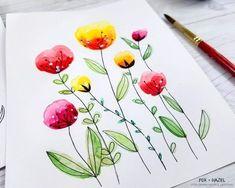 How to Paint Easy Watercolor Flowers Tutorial - Fox + Hazel for Dawn Nicole Designs 29 #watercolorarts