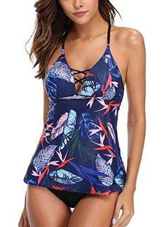 442b2f1664d  beachaccessoriesstore CharmLeaks Womens Tankini Set Swimsuit Tankini Two  Piece Tankini Swimwear Tankini …