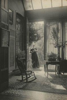 """allesandersen: """" Marcel Vanderkindere: Le salon d'été. Ca. 1895, Belgium, platinum print. """""""