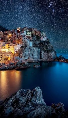 italy Dreamlike Www.Traveloverseasnow.Com not sure of the photographer of this piece but i love the stars and the burst of light on the left hand side of the image.
