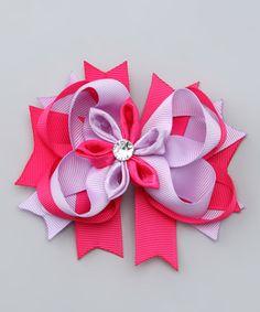 Another great find on #zulily! Pink & Purple Flower Bow Clip #zulilyfinds