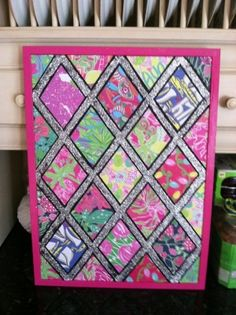 Make a bulletin board out of your old Lilly agenda! by laurel