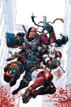 Deathstroke (2014) # 12 Cover by Tyler Kirkham released by DC Comics in November 2015