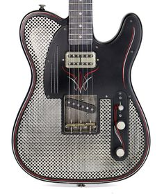 TRUSSART SteelCaster Antique Silver and Black Satin w/ Pinstripes | Cream City Music/Reverb