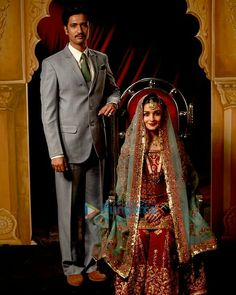 Iqbal and Sehmat Bollywood Couples, Bollywood Celebrities, Hindi Actress, Bollywood Actress, Desi Wedding Dresses, Wedding Outfits, Aalia Bhatt, Indian Designer Wear, Indian Actresses