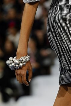 More is More - Oversized pearls at Chanel Spring 2013 #accessories #runway #trends
