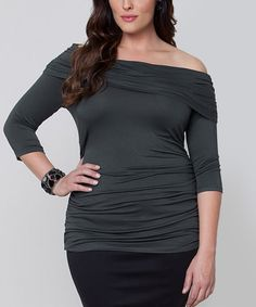 Loving this Gray Tessa Convertible Top - Plus on #zulily! #zulilyfinds