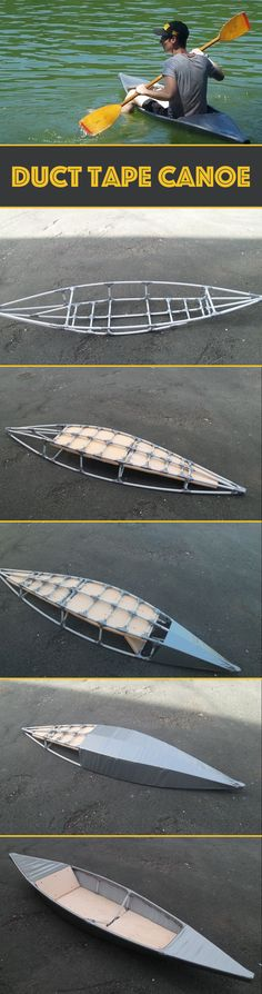 I made this boat to have fun and see if we could do a canoe with duct tape and pvc tubes. The boat is effectively waterproof and allows to sail long. I tried it on a river for 4 hours and the only fault is the reduced dimensions. On the other hand, it is so small that it returns whole in my car.
