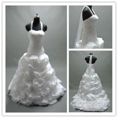 We can make ruffled wedding gowns with halter necklines. Changes to any of the #dariuscordell designs are available. We also make custom #weddingdresses as well as #replicas of haute couture designs.
