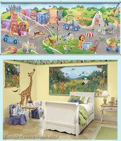 Safari Friends Wall Minute Mural - Wall Sticker Outlet