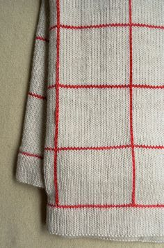 Lines + Squares Baby Blanket by the purl bee - So simple and pretty - Free pattern