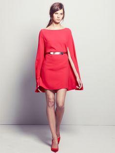 La robe-cape Maje - Shopping list : robes de soirée pour les fêtes - Grazia