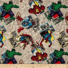 Superman Cushion Panel Super Hero Springs Creative 100/% Cotton Fabric