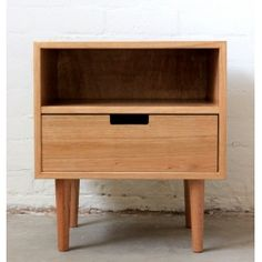 Ebb bedside table in Victorian Ash by Southwood