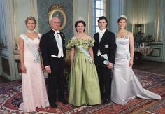 The Royal Family of Sweden - Princess Madeleine, King Carl XVI Gustaf, Queen Silvia, Prince Carl Philip and Crown Princess Victoria