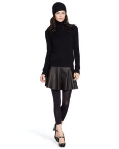 Cashmere Gena Turtleneck - Polo Ralph Lauren Turtlenecks - RalphLauren.com. Chic but fresh all black look.