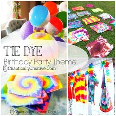 Tie Dye Party for Tweens ..boys love it too!
