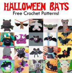 Free Crochet Patterns! Make these Halloween Bats for your Halloween decor or give them away as Halloween presents!