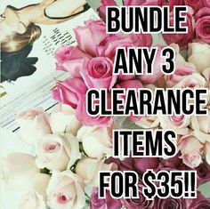🔴Bundle 3 Clearance Items🔴 Any 3 items marked 🔴Clearance🔴 bundle for $35!! Just let me know the items and sizes and I'll create a new listing for you! Other