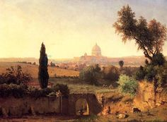 St. Peters Rome oil painting by Famous Artist - George Inness