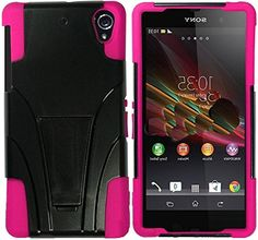 "myLife Protective Slim Armor Kickstand Case for the Sony Xperia Z2 {Fluorescent Pink and Black ""Smooth Deluxe Finish"" Two Piece NEO Hybrid with Rubber Bumper Shell} myLife Brand Products http://www.amazon.com/dp/B00PJ6OWGI/ref=cm_sw_r_pi_dp_9K3Aub13618CH"