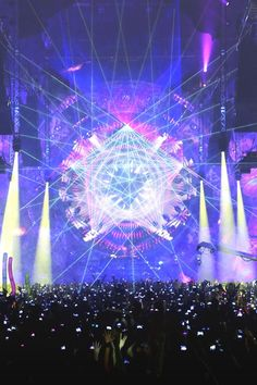 trippy.. [led lighting + projector with sacred geometry transmutation symbols, clock & add laser projectors over it]