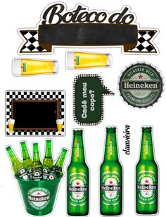 Frozen Paper Dolls, Edible Printing, Beer Art, Dad Day, Birthday Crafts, Birthday Cake Toppers, Hobbies And Crafts, Beer Bottle, Calendar March