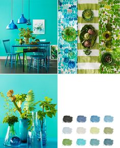 Blue and Green Inspiration ♥ Вдъхновение в синьо и зелено | 79 Ideas