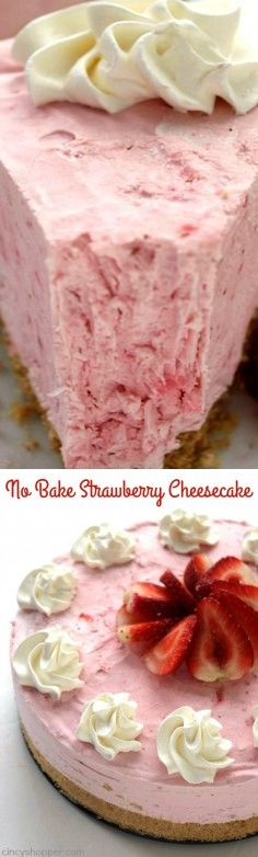 1 lb Strawberries. 5 Strawberries. 4 tbsp Sugar. 1 Topping, whipped. 30 Graham crackers. 5 tbsp Butter. 16 oz Cream cheese. 16 oz Heavy whipping cream.