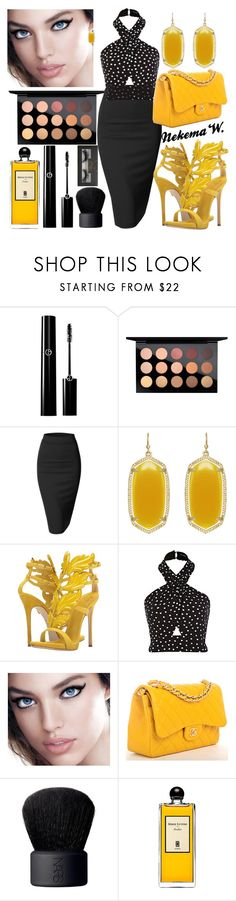 """👫🍝"" by sexyshonda ❤ liked on Polyvore featuring MAC Cosmetics, Doublju, Kendra Scott, Giuseppe Zanotti, Maybelline, Chanel, NARS Cosmetics, Serge Lutens and Boohoo"
