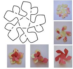 folded paper flower template