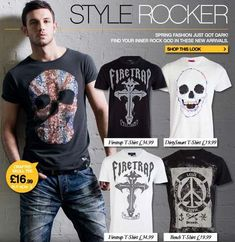 Rocker Fashion For Men   The new Spring fashion just got dark with these new edgy rock style ...