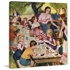 Marmont Hill - 'Out of Ice Cream' by Amos Sewell Painting Print on