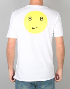 c3f871e4a9950 The Nike SB Dry DB Smiley T-Shirt in White and Opti Yellow is one
