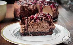 Sernik czekoladowy z wiśniami