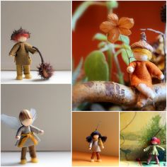 Daily Colours : Tutorial Wee Felt Folk with free PDF-pattern
