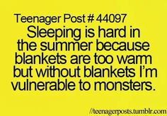 Because it totally makes since that a fuzzy blanket could protect me from anything and everything.