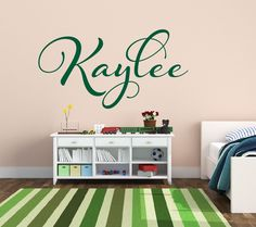 A personal favorite from my Etsy shop https://www.etsy.com/listing/188514428/baby-name-wall-decal-girls-nursery-wall