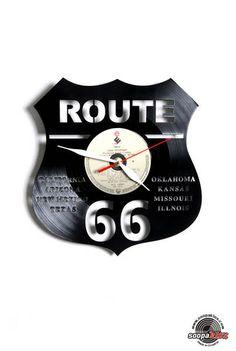 route 66 vinyl wall clock