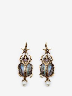 Beetle Earrings by Alexander McQueen Alexander Mcqueen Käfer Ohrringe – Antikes Gold Gold Jewelry, Jewelry Box, Vintage Jewelry, Jewelry Accessories, Jewelry Necklaces, Jewelry Making, Jewlery, Bracelets, Handmade Jewelry