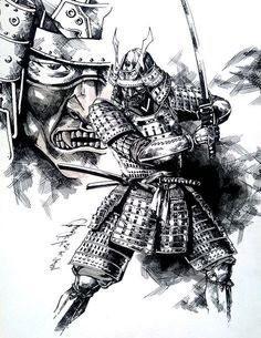 samurai by dikeruan on DeviantArt Samurai Tattoo, Samurai Drawing, Samurai Artwork, Ronin Tattoo, Shogun Tattoo, Demon Tattoo, Warrior Tattoos, Japanese Drawing, Japanese Tattoo Art