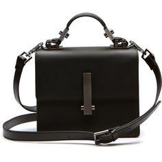 MINI MINATO TOP HANDLE BAG ($295) ❤ liked on Polyvore featuring bags, handbags, shoulder bags, top handle bags, leather handbags, miniature purse, genuine leather handbags and real leather purses