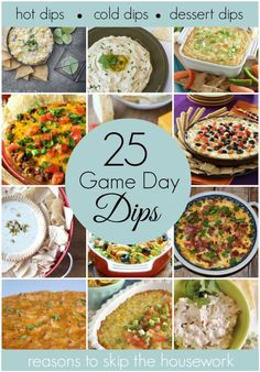 game day dip recipes